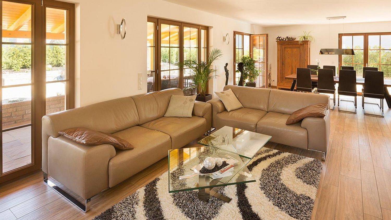 Wohnzimmer Landhausstil mit toskanischem Flair