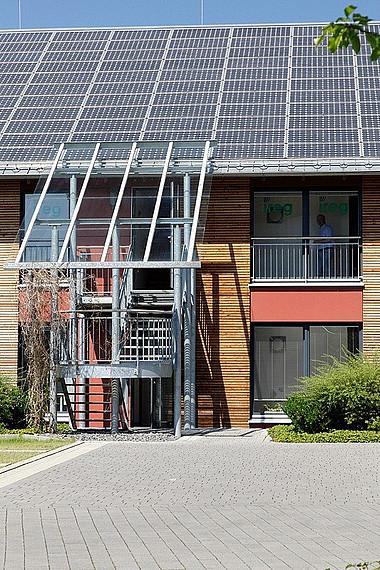 Photovoltaikdach Nahansicht