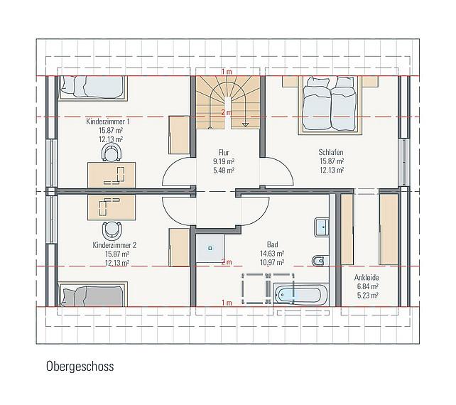 Grundriss OG Stadthaus