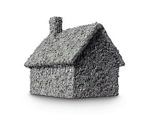 Haus mit Zellulosedämmung Isofloc
