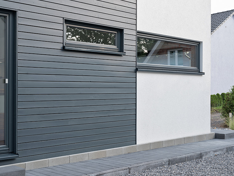 Modernes Einfamilienhaus Fassade