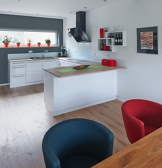 Offene Wohnküche mit Tresen
