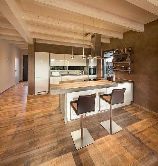 Einfamilien-Holzhaus