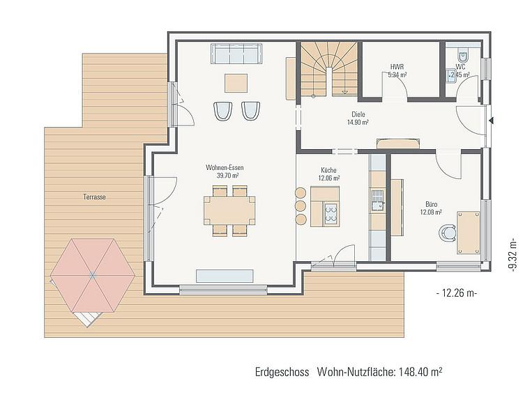 hauskonzept stadthaus mit erker und gaube petershaus. Black Bedroom Furniture Sets. Home Design Ideas