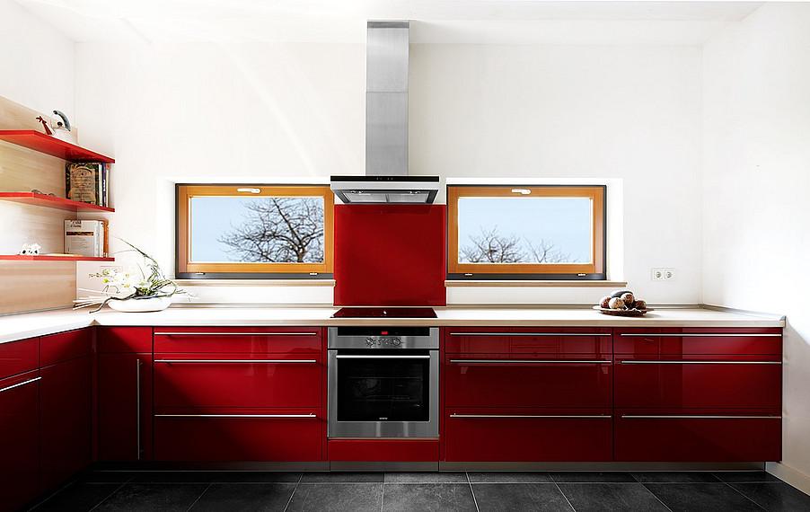 Moderne und auffallende Wohnküche