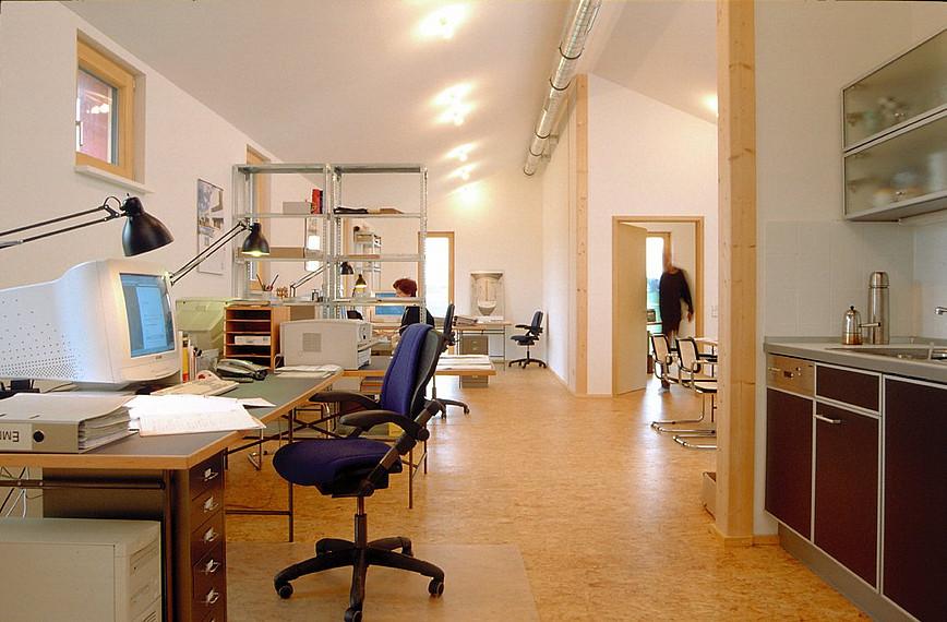 Fertighaus für Kreative: Arbeitsbereich