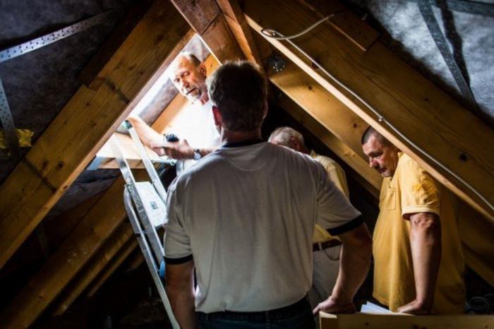 Bauphase Dach
