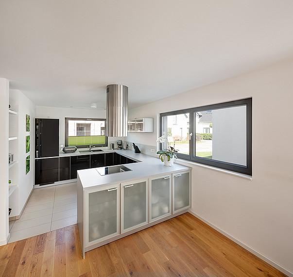Offene Küche des Doppelhauses
