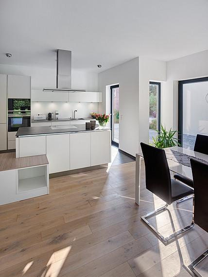 Modernes Einfamilienhaus Küchenansicht