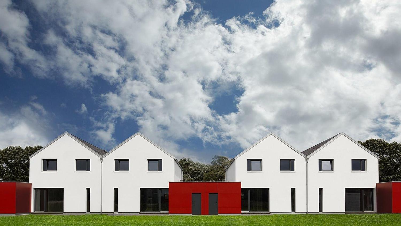 Doppelhaus: energiesparendes Fertighaus