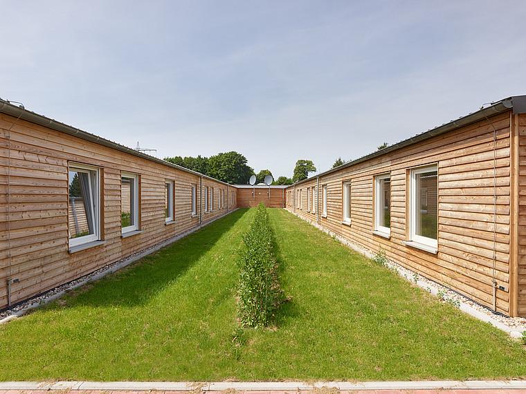 Asylbewerberunterkunft Außenansicht