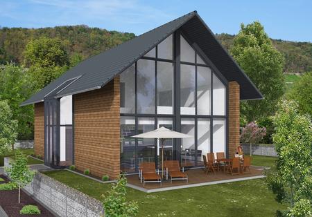 Hauskonzept Lichthaus mit Loftcharakter