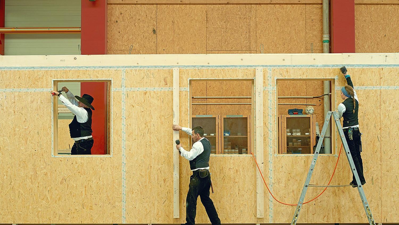 Hochwertige Bauqualität durch Holzbauweise