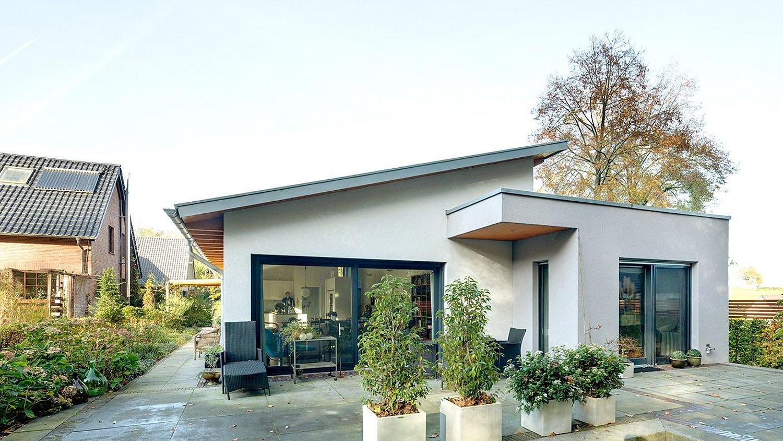Fertighaus Haustyp: Bungalow mit Holzverschalung