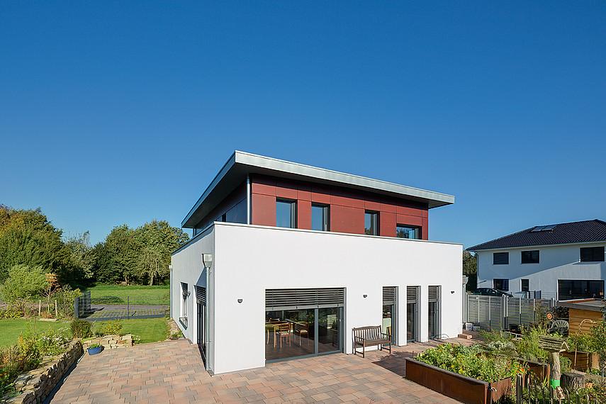 Quadratisches Einfamilienhaus