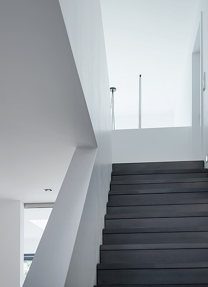 Fertighaus Bauhausstil Treppe