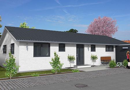 fertighaus bungalow ebenerdig wohnen und leben petershaus. Black Bedroom Furniture Sets. Home Design Ideas