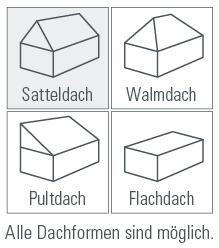 Fertighaus Dachformen